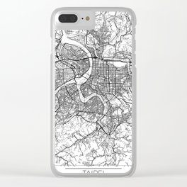 Taipei Map White Clear iPhone Case