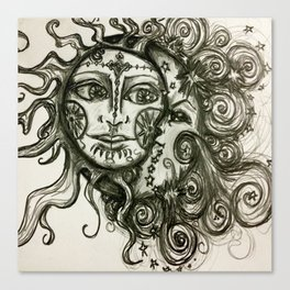 The Sun And The Moon Canvas Print
