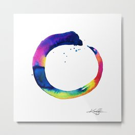 Enso Of Zen No. 16 by Kathy Morton Stanion Metal Print