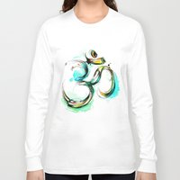 ohm Long Sleeve T-shirts featuring Ohm by Abby Diamond