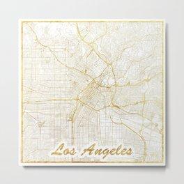 Los Angeles Map Gold Metal Print