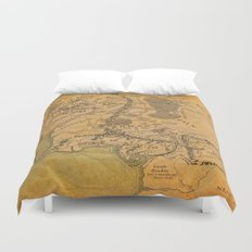 Map of Middle Earth Duvet Cover