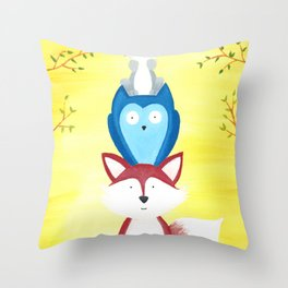A Furry Friendship Throw Pillow