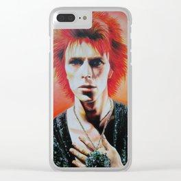 Soul Love- David Bowie Art Clear iPhone Case