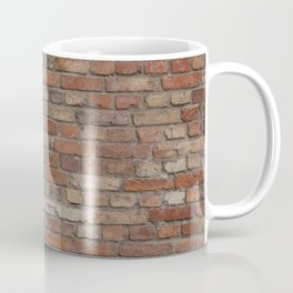 Build the wall brick wall texture vintage with red bricks pattern Coffee Mug