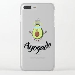 Ayogado | Yoga Avocado Clear iPhone Case