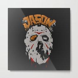 Jason killer face Metal Print