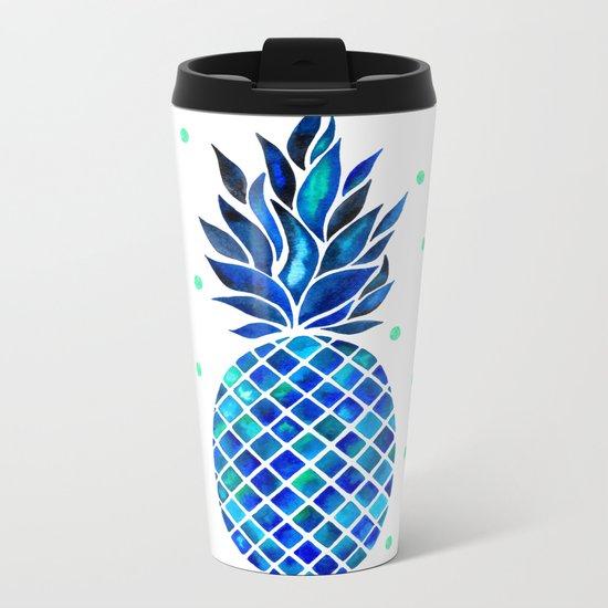 Maritime Pineapple Metal Travel Mug