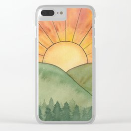Nurture Nature - Sunrise Watercolor Clear iPhone Case
