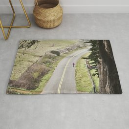 The lonely cyclist Rug