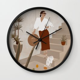 African Spring Summer Wall Clock