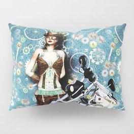 Steampunk Girl Pillow Sham