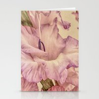 shabby chic Stationery Cards featuring Shabby chic gladioli by Shalisa Photography