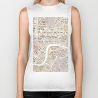 london map Biker Tanks featuring LONDON by Mapsland