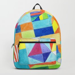 Playful Colorful Architectural Pattern Backpack