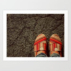 Shoes on Cement Art Print