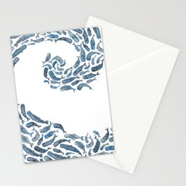 Whale Wave.  Stationery Cards