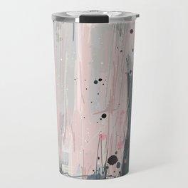Soft Pink Abstract Travel Mug