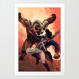 Patriots vs Rams Art Print