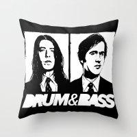 nirvana Throw Pillows featuring Nirvana DNB by Grym Life