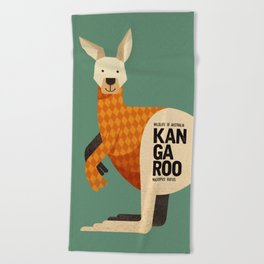 Hello Kangaroo Beach Towel