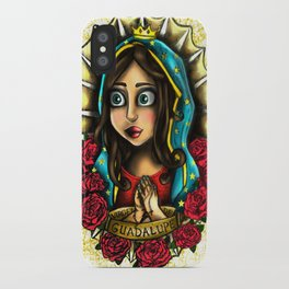 Lady Of Guadalupe (Virgen de Guadalupe) WHITE VERSION iPhone Case