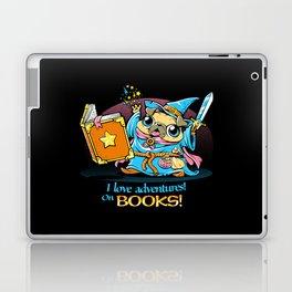 I Love Adventures! On Books. Laptop & iPad Skin