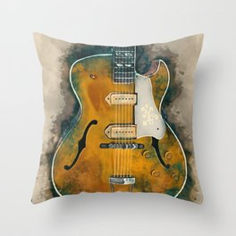 Scotty Moore's Guitar Throw Pillow
