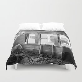 Fine Dining on Rugby Road Duvet Cover
