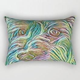 Penny the Yorkipoo art Rectangular Pillow