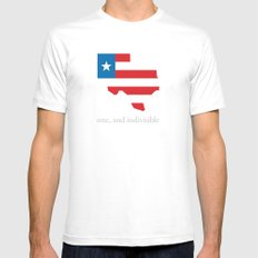 7th Flag of Texas MEDIUM White Mens Fitted Tee