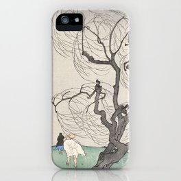 A Gust of Wind by Emil Orlik, 1901 iPhone Case