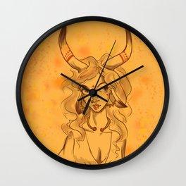 Minotaur Girl Wall Clock
