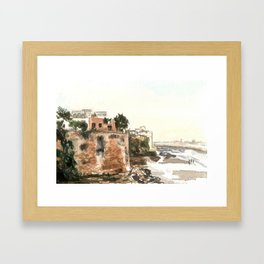 Kasbah of the Udayas, Rabat, Morocco Framed Art Print