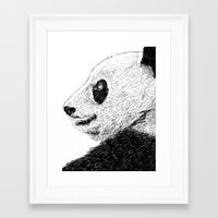 pandas Framed Art Prints featuring Pandas by barmalisiRTB