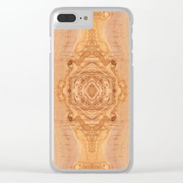 Olive wood surface texture abstract Clear iPhone Case