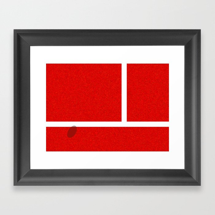 """IN"" – Hawk-Eye – Sand Gerahmter Kunstdruck"
