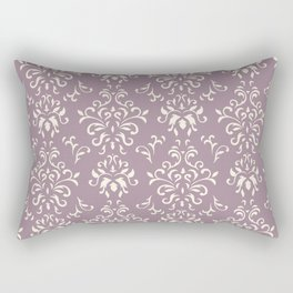 Decorative Pattern in Light Magenta and Cream Rectangular Pillow