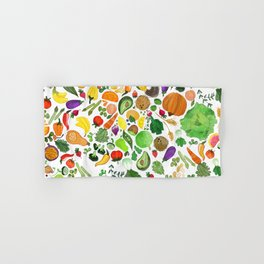 Fruit and Veg Pattern Hand & Bath Towel
