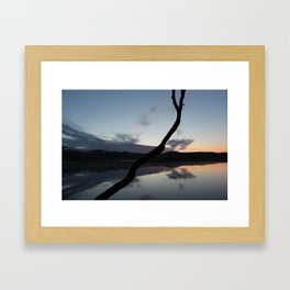 Sunset on lake, Nature Photography, Landscape Photos, sunset photos Framed Art Print