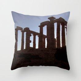 Temple of Poseidon Throw Pillow