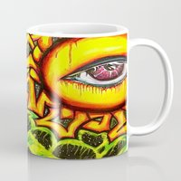 psychadelic Mugs featuring Psychadelic sun by Annabomb