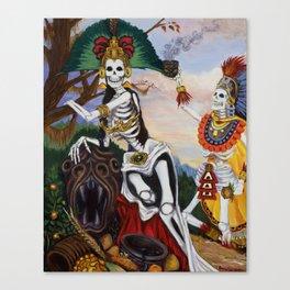"""Aztec Ritual"" Canvas Print"