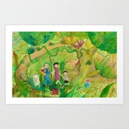 Family Monteverde Cloud Forest Walk Art Print