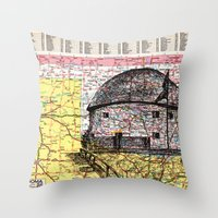oklahoma Throw Pillows featuring Oklahoma by Ursula Rodgers