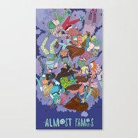 almost famous Canvas Prints featuring Almost Famous by Borislavaaaawillmadeit