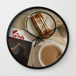 Churros, a submarino (chocolate melted in hot milk) and Carlos Nine Wall Clock