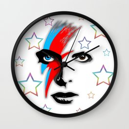Bowie's Eyes Wall Clock