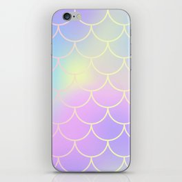 Pink Blue Mermaid Tail Abstraction iPhone Skin
