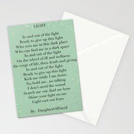 LIGHT (poem) Stationery Cards